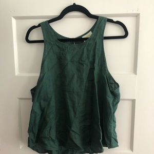 Anthropologie Tops - Maeve Anthropologie green linen tank top